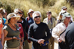 Gregg sharing insights with the group in the Sacred Valley